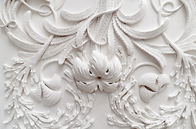 Bas relief plaster feature wall