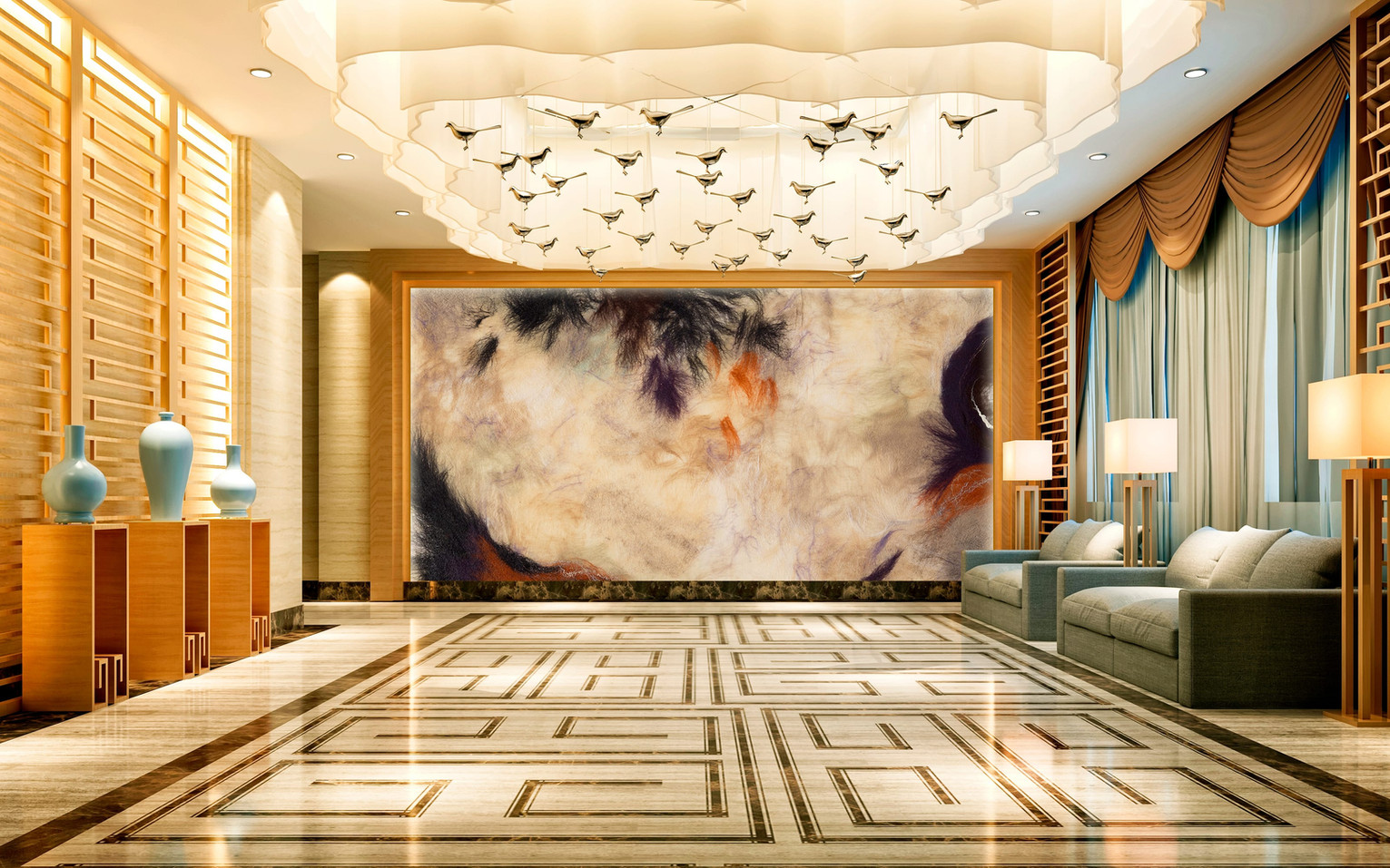 Laurine Malengreau mural wall art for interiors