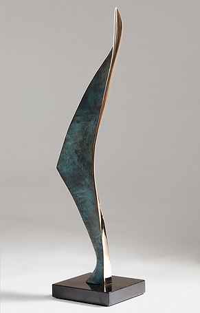 luxury contemporary bronze abstract sculpture green patina