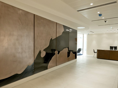 Petr Weigl bronze feature wall art