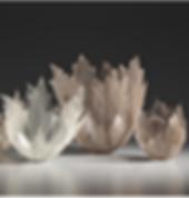 Leaf inspired decorative sculpture art for interiors