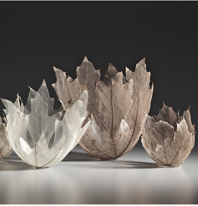 Leaf inspired decorative sculpture art for interiors