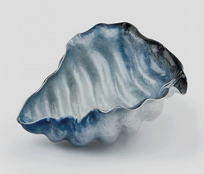 Ocean inspired decorative art vase for interior design
