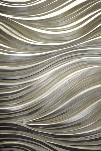 Simon Allen goldleaf wood mural sculpture