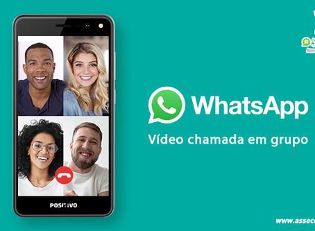 Faça Chamadas de Vídeo com 8 contatos pelo WhatsApp