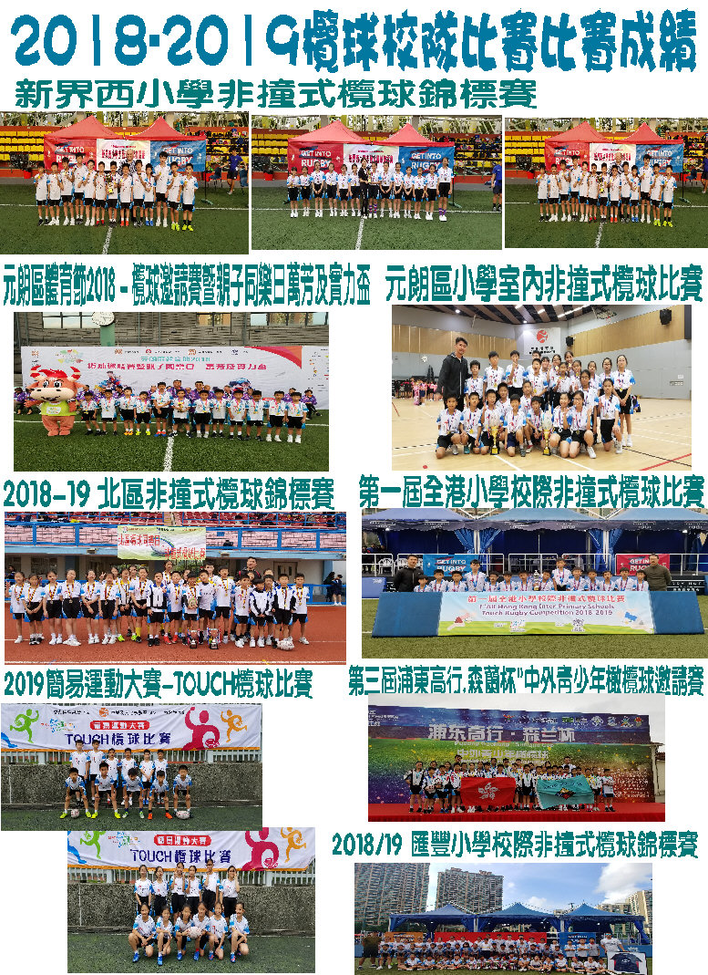 2018-2019欖球校隊比賽比賽成績