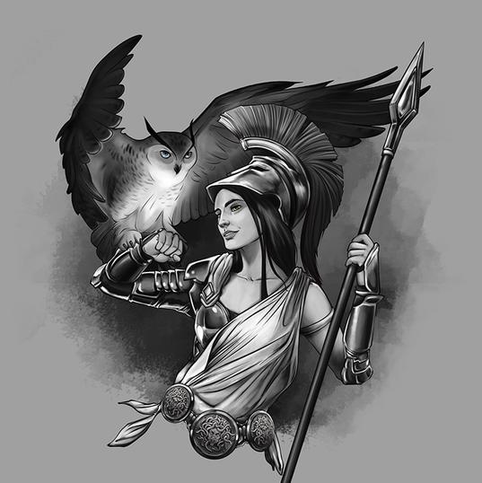 Tatuagem de Athena
