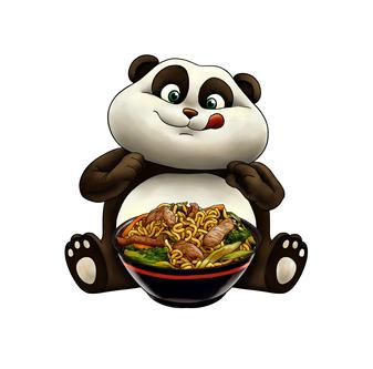 Mascote Panda Obentô