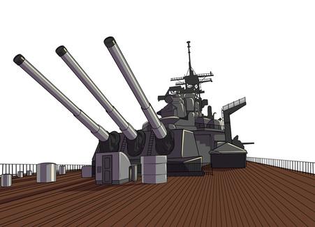 Deck de canhões