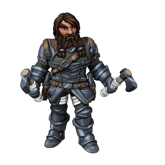 Anão de Armadura RPG