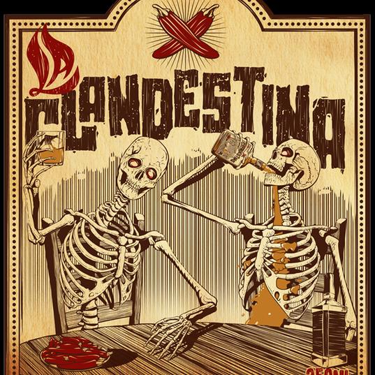 Rótulo La Clandestina