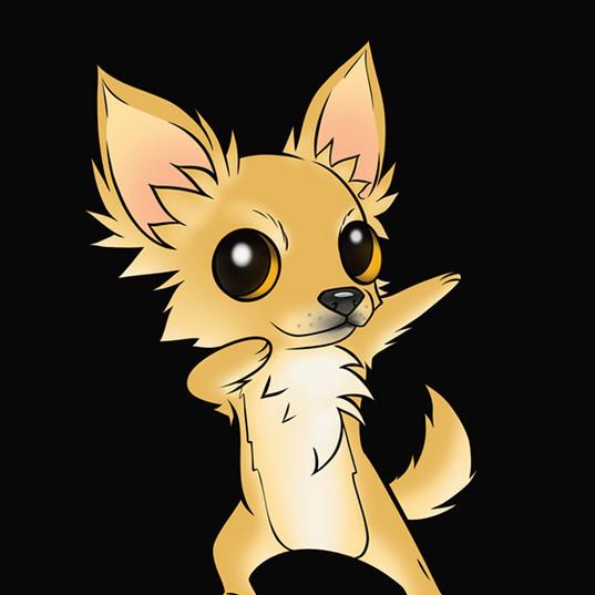 Mascote empresa de petiscos para cães