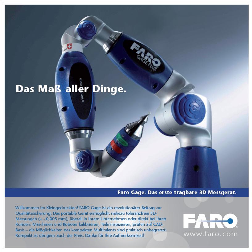 Faro 3D-Messtechnik.