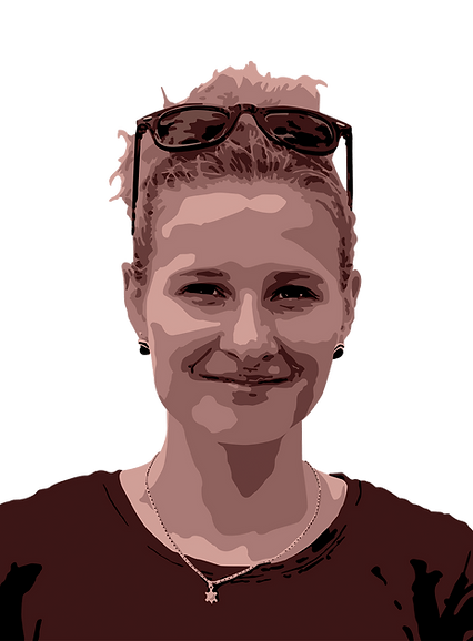 Celine Endras Vektorgrafik Selbstpotrait