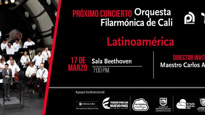 Semana de programarse con  la Orquesta Filarmónica de Cali
