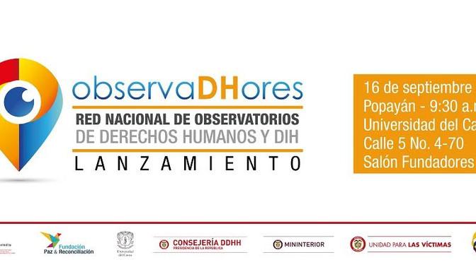 Este viernes se lanzará la Red Nacional de Observatorios