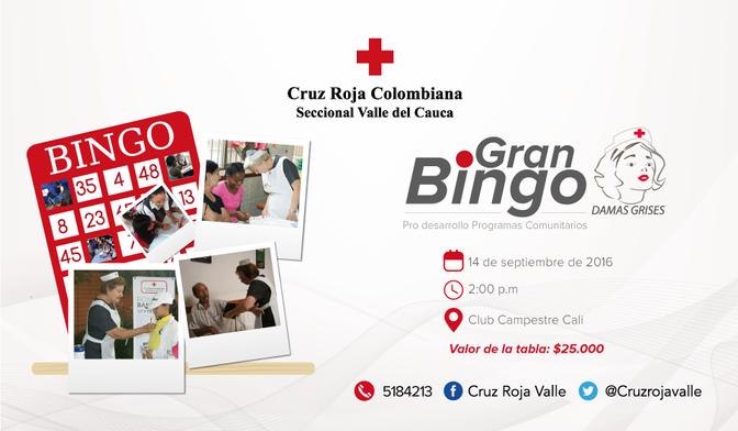 DAMAS GRISES DE CALI REALIZAN BINGO CON EL FIN DE RECOGER FONDOS PARA PROGRAMAS COMUNITARIOS