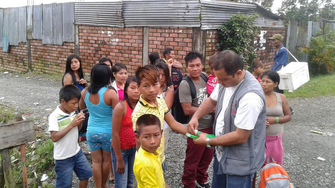 24 familias indígenas wounaan retornaron al municipio Litoral de San Juan (Chocó)