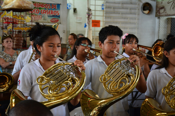 Escuela de Música Desepaz puso el sabor musical a la Galería Alameda