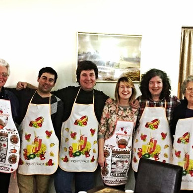 Happy cooking group
