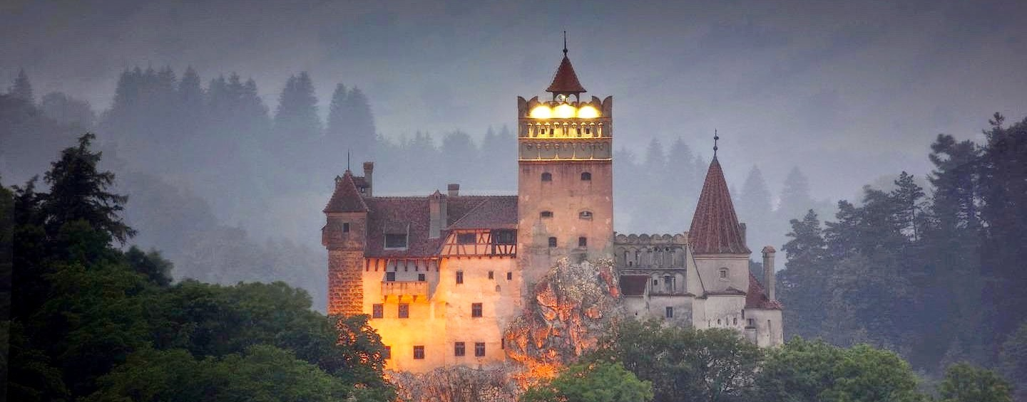 Bran castle night Romania Carpathian mountains  beautiful eastern europe medieval castles_edited