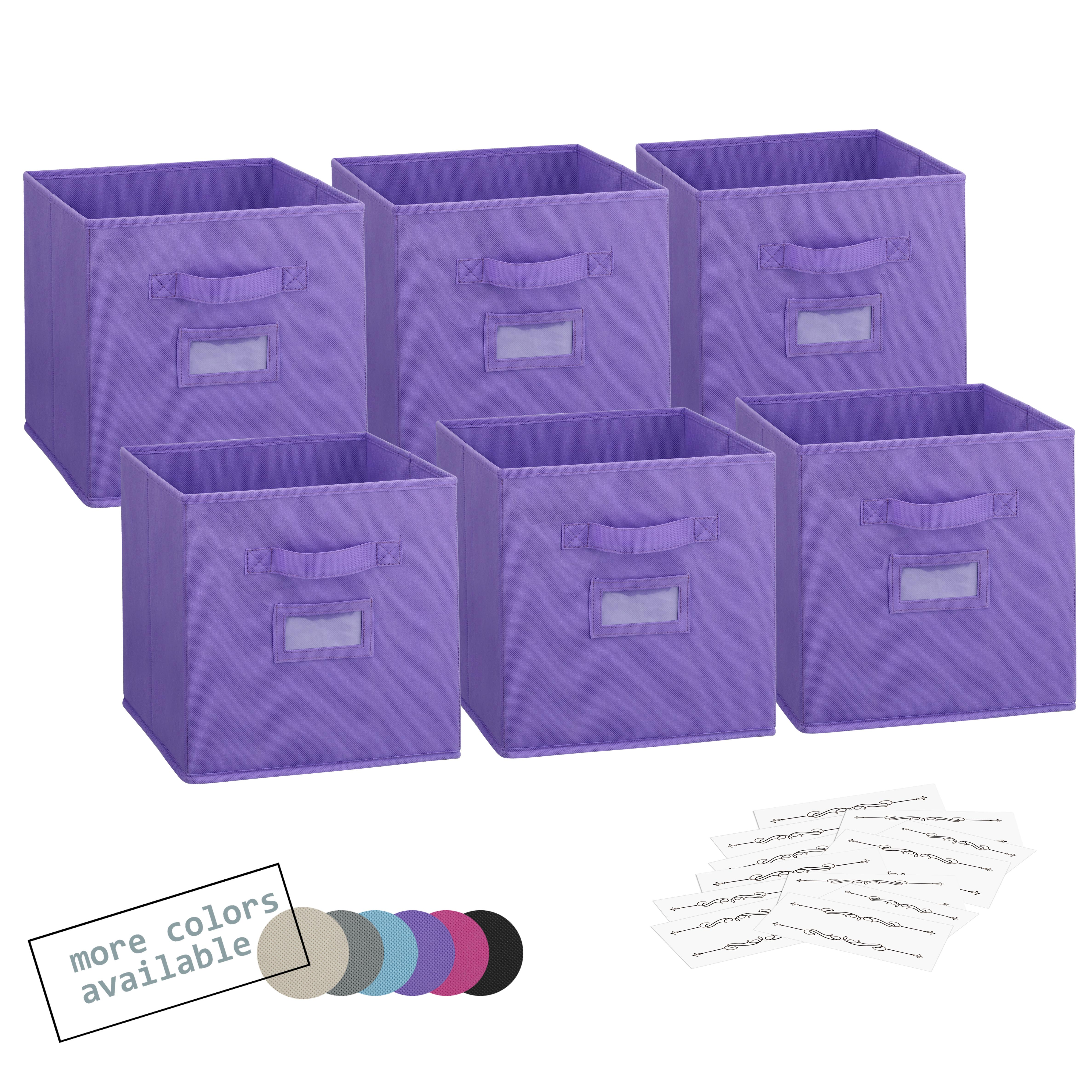 Foldable fabric storage cubes beige (1)