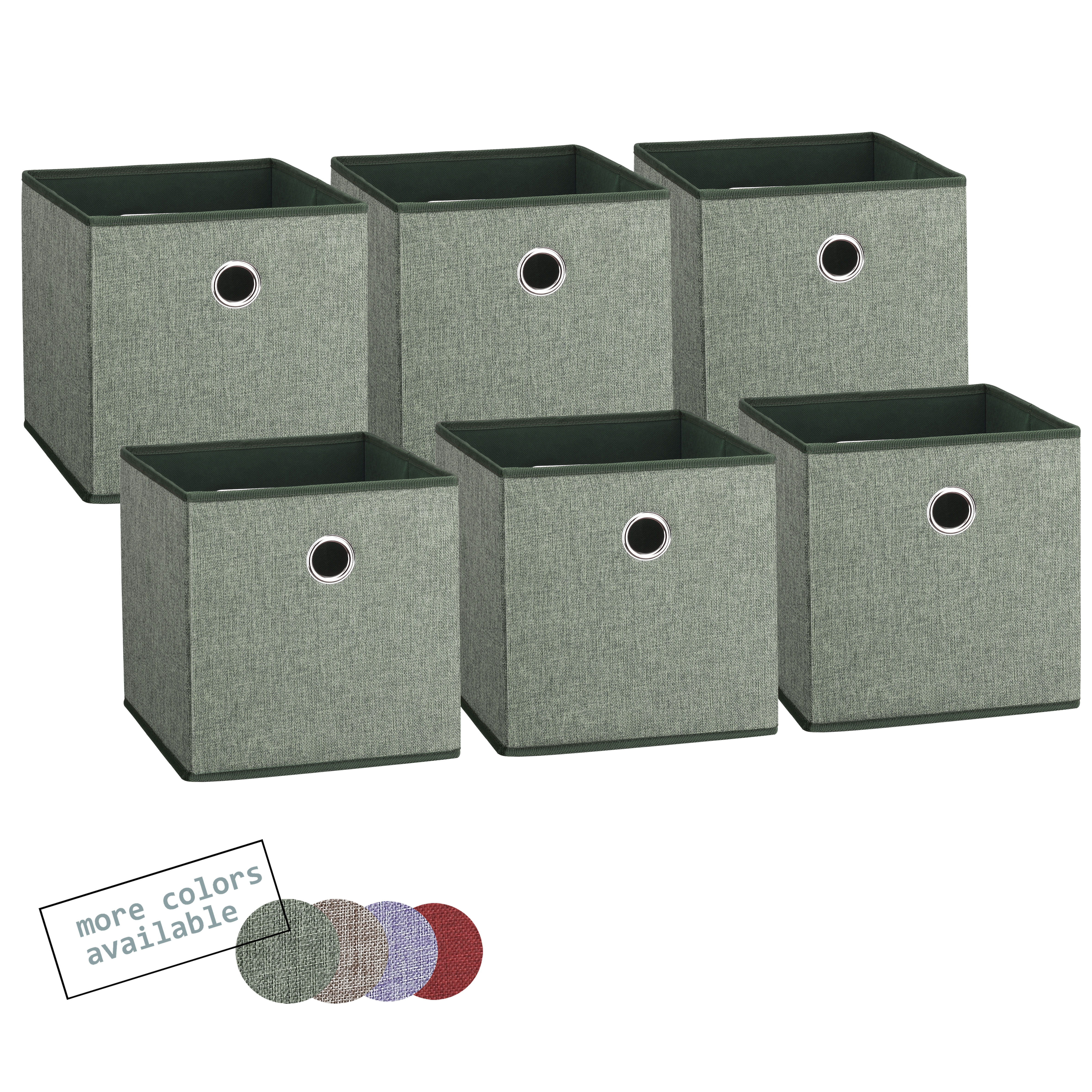 Foldable fabric storage cubes green