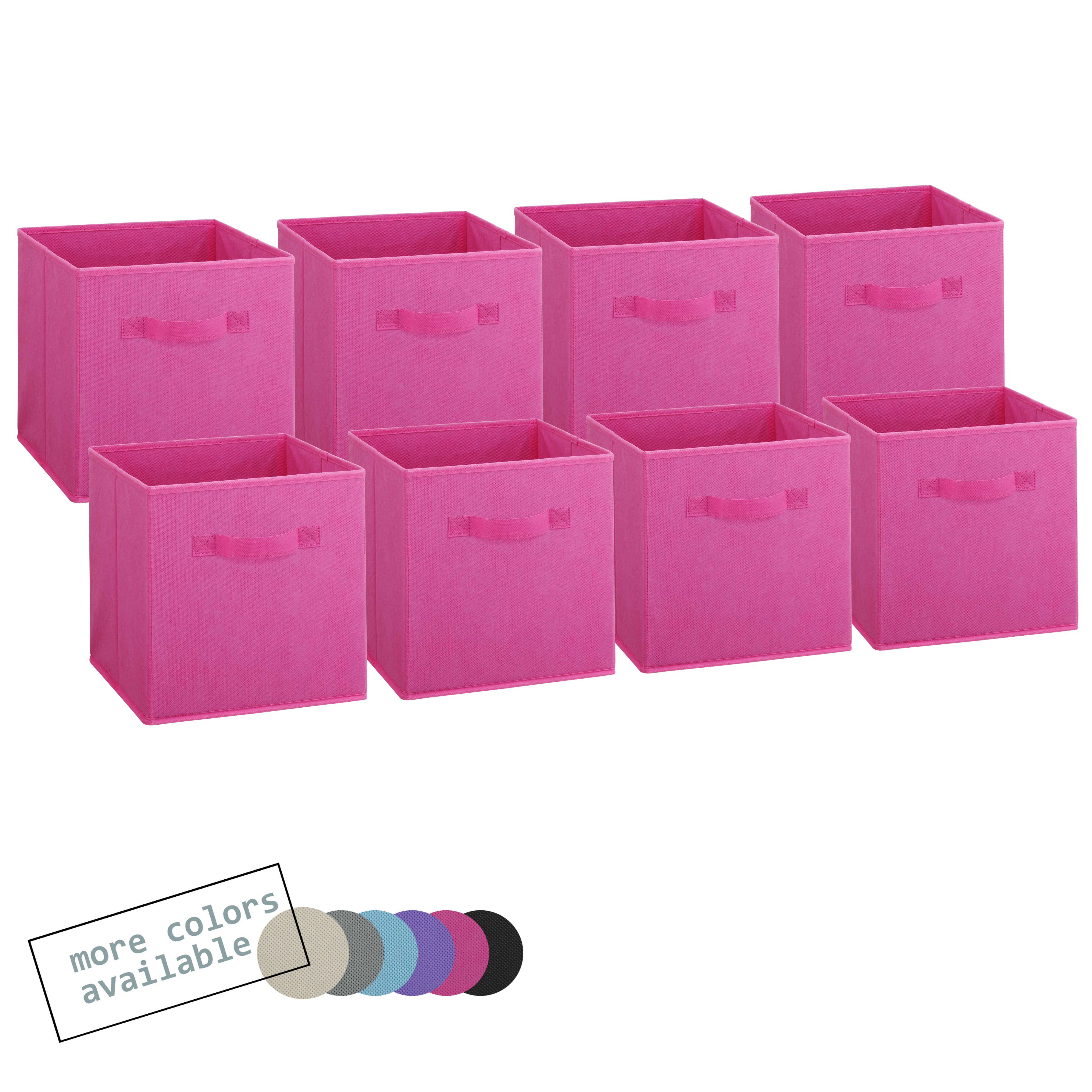 Foldable fabric storage cubes pink