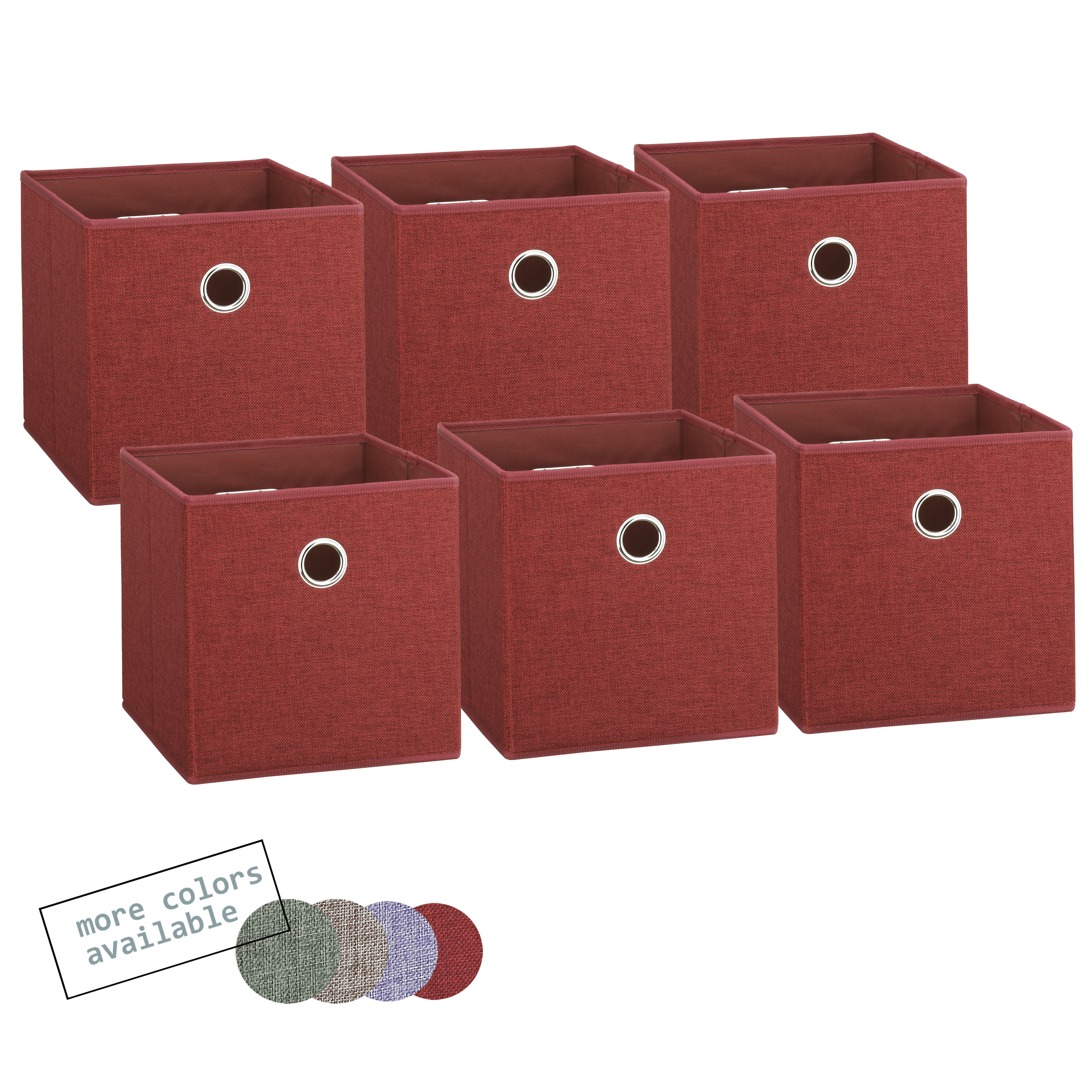 Foldable fabric storage cubes red