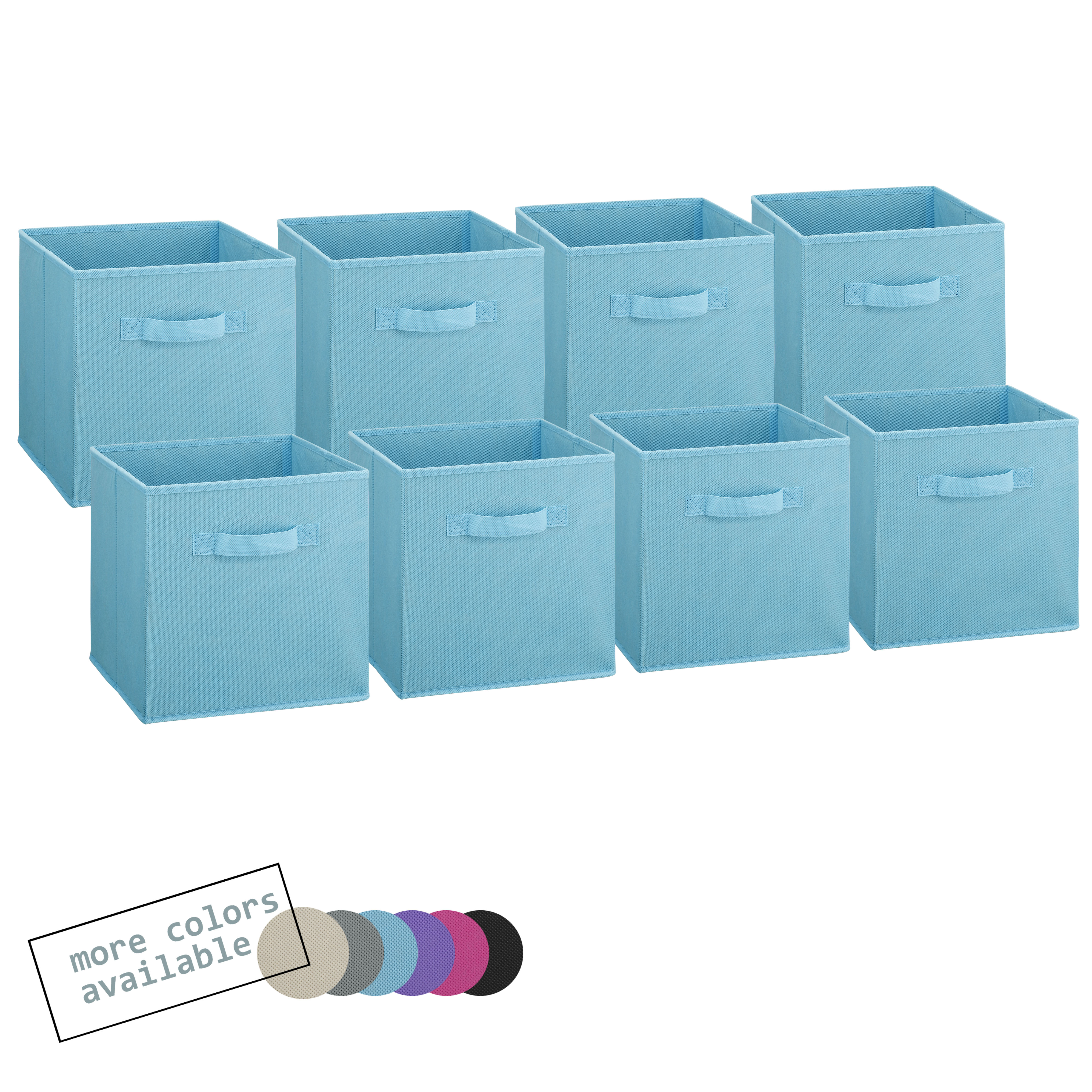 Foldable fabric storage cubes blue