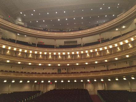Good morning from the office: Carnegie Hall