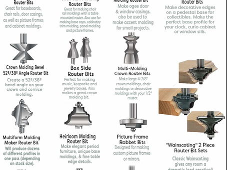 Printable Router Bit Guide: Molding Bits