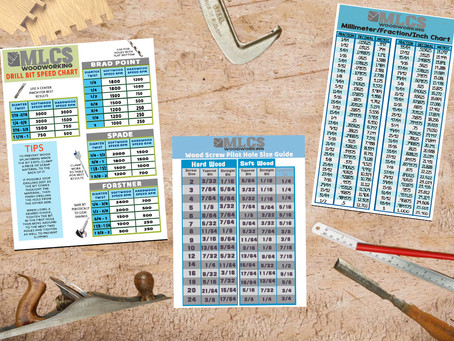 Downloadable Woodworking Reference Charts