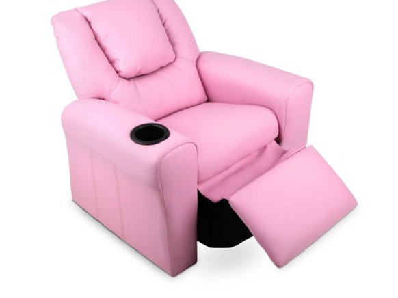 Marvelous Kids Padded Pu Leather Recliner Chair Pink Ncnpc Chair Design For Home Ncnpcorg