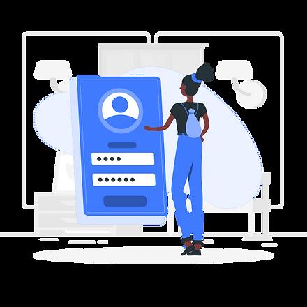 Secure customer account