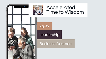 MAXX Virtual World Rehearsal for accelerating time to wisdom with improvements in agility, leadership and business acumen