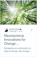 Neuroscience innovations for change management