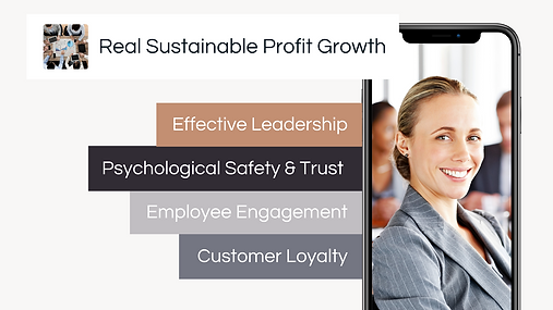 Performance Break-Thru project helps managers and leaders gain real sustainable profit growth through developing effective leadership, psychological safety and trust, employee engagement and customer loyalty