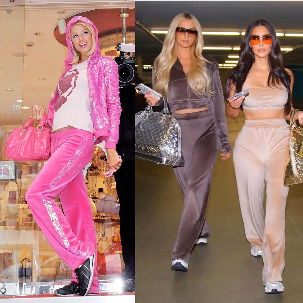 Velour Tracksuits on Paris Hilton and Kim Kardashian