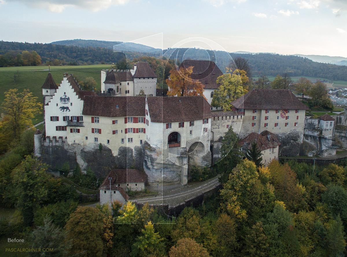 Castle Lenzburg with own drone