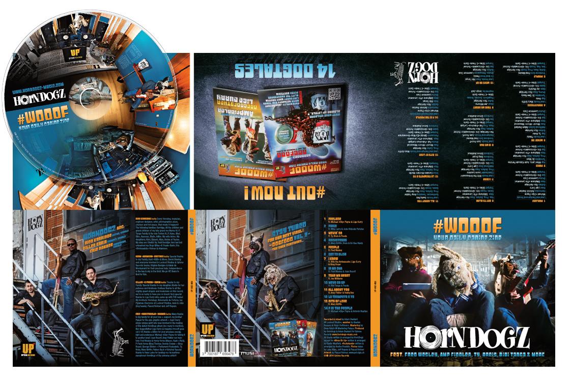 Horndogz album design