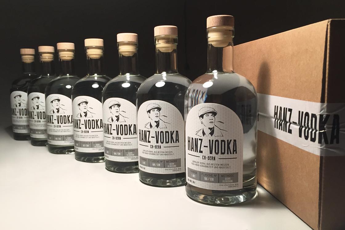Hanz-Vodka label design