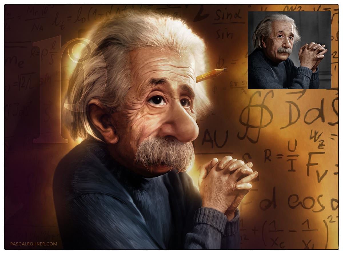 Cartoon - Albert Einstein