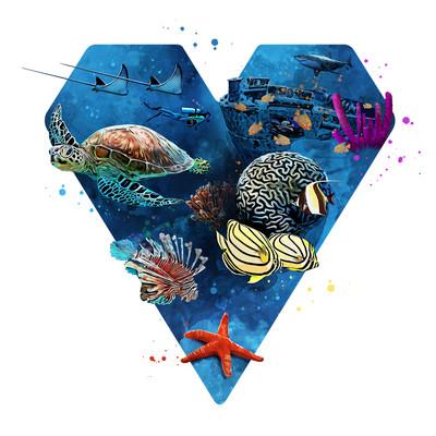 Herz für Meeresbewohner