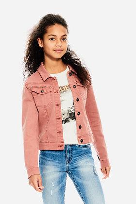 GARCIA Veste en jean rose à clous