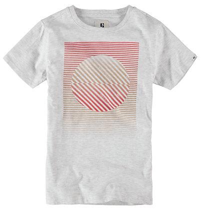 GARCIA T-shirt blanc à imprimé - N03601