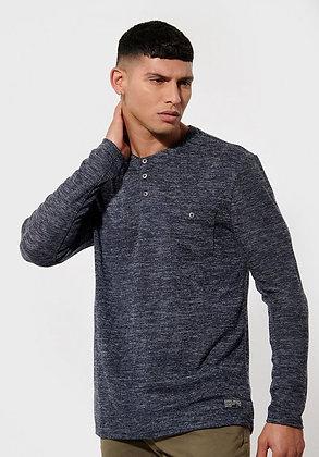 KAPORAL T-shirt TIZO col tunisien bleu