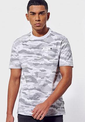 KAPORAL  T-shirt régular Drone camouflage blanc