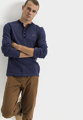 CAMEL ACTIVE t-shirt col boutons