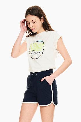GARCIA T-shirt blanc à imprimé Q02401